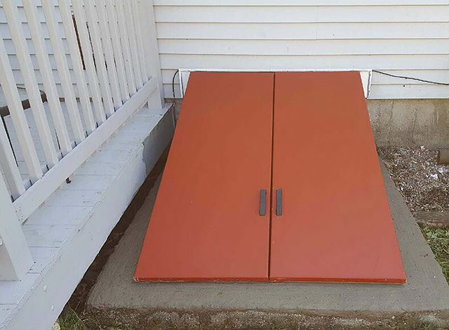 Bilco Door, After, New England Dry Basements, now with three locations, eastern MA, central MA and western MA.